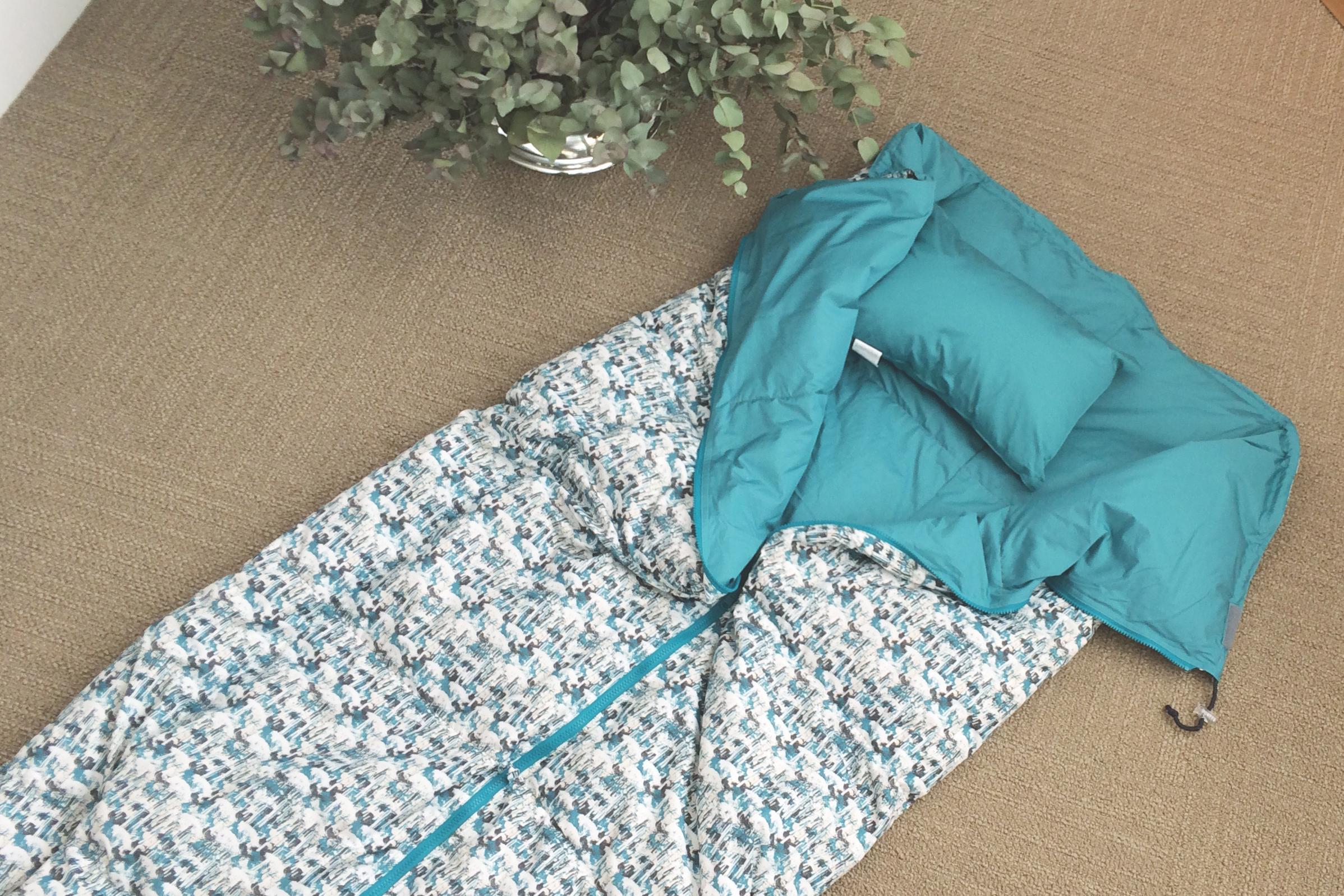 新生活のお祝いに 寝袋クッション